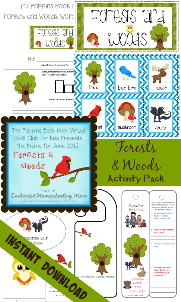 FREE Forests and Woods Reading and Lapbook Pack