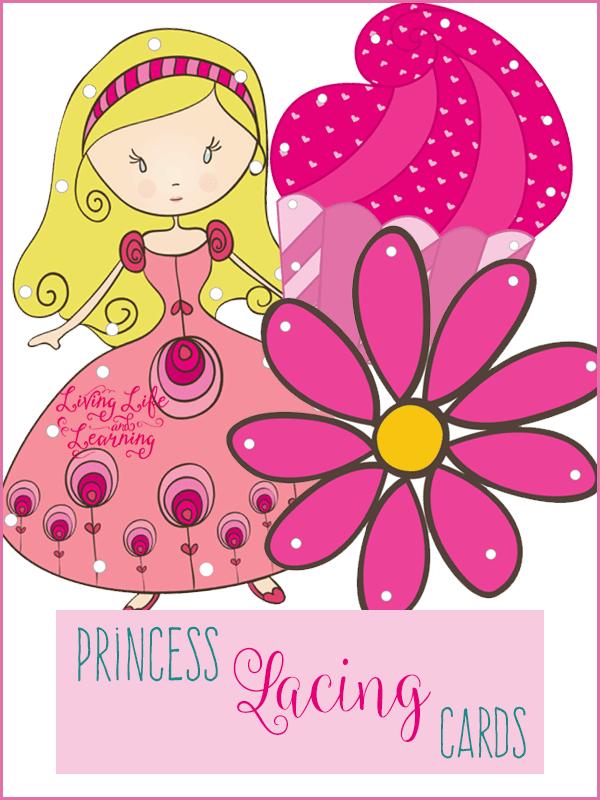 FREE Princess lacing Cards
