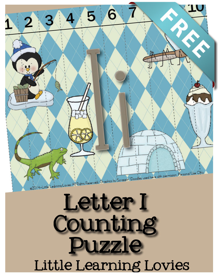 FREE Letter Counting Puzzle