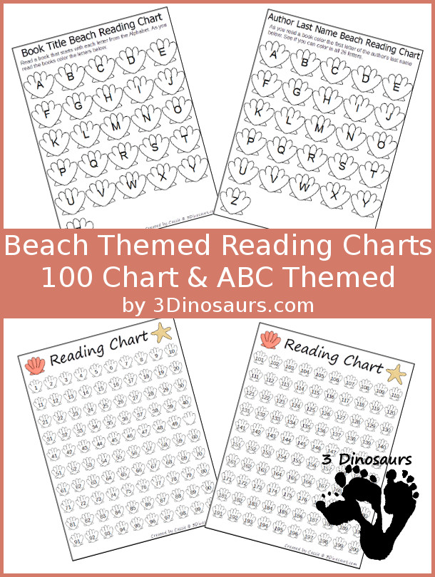 FREE Beach Themed Reading Charts