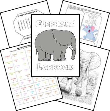 FREE Elephant Lapbook