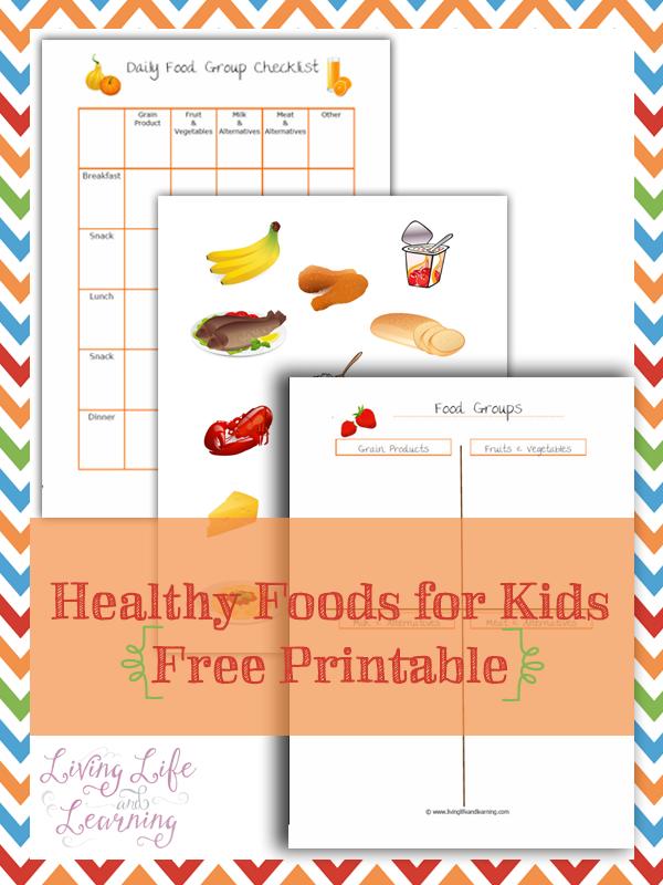 FREE Healthy Food Printables