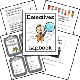 FREE Detectives Lapbook and Unit Study
