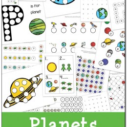 FREE Planets Do-a-Dot Printables