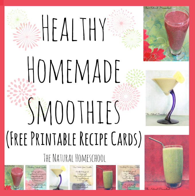 FREE Smoothie printable Cards