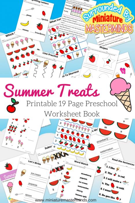 FREE Summer Treats PreK Pack