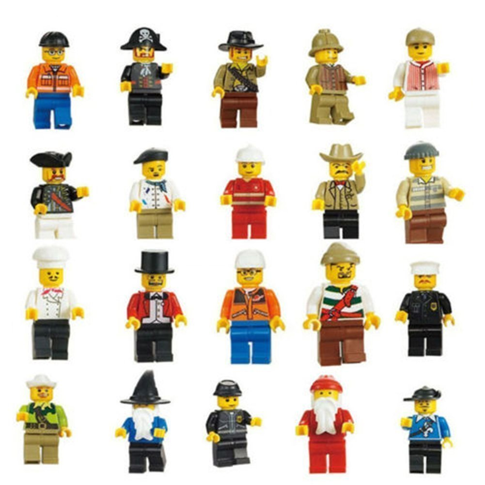 20 Male Minifigure Pack Only $5.80!