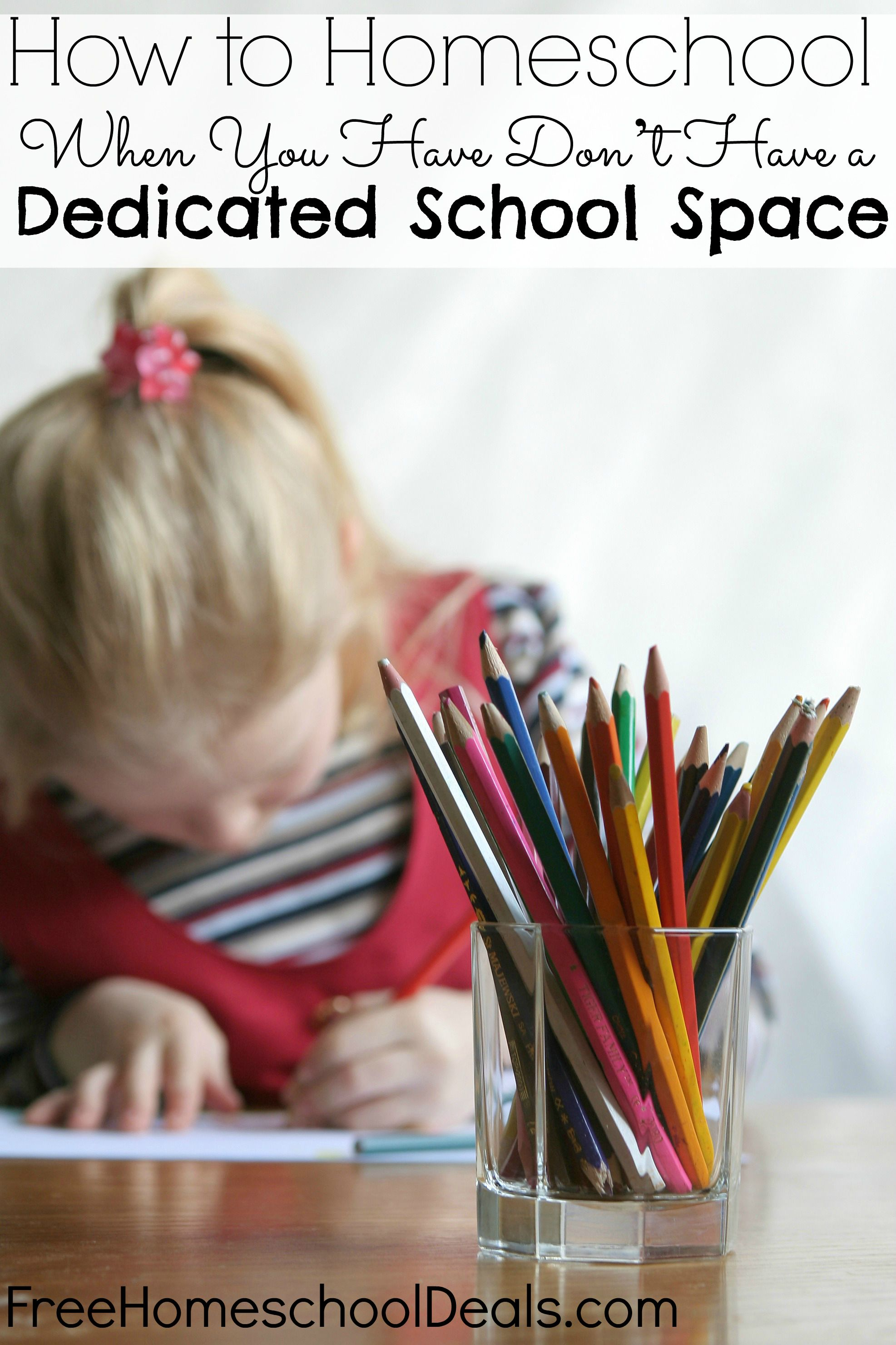 How to Homeschool When You Have Don't Have a Dedicated School Space Picture