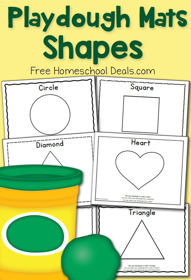June 2015 FHD Shapes Playdough Mats