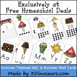 FREE SUMMER THEMED ABC AND NUMBERS PACKS (Instant Download)