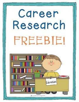 FREE Career Research Freebie
