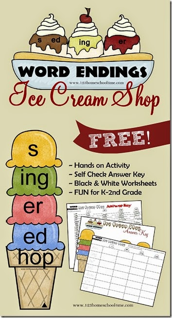 FREE Ice Cream Ending printables