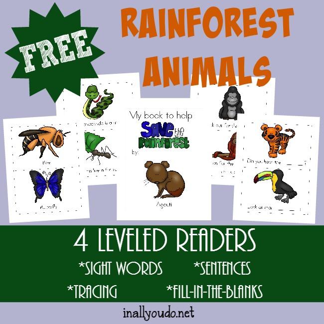 FREE Rain-forest Animals Pack