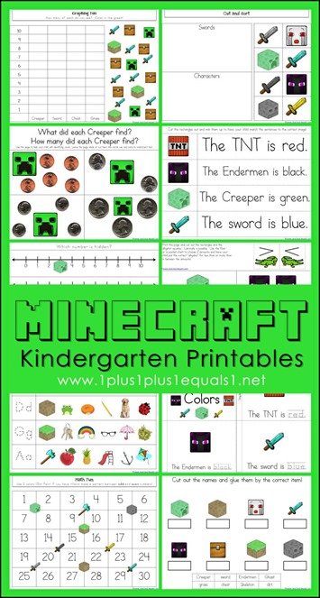 FREE Minecraft Coloring Pac