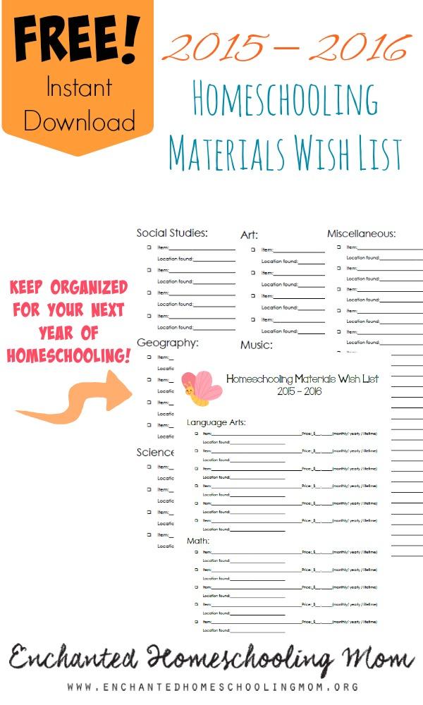 FREE Materials Wish List