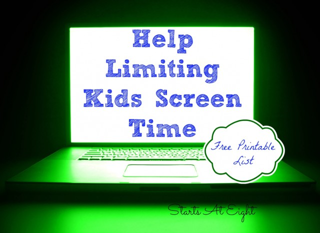 FREE Limit Kids Screen Time Printable