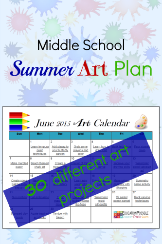 FREE Summer Art Plans