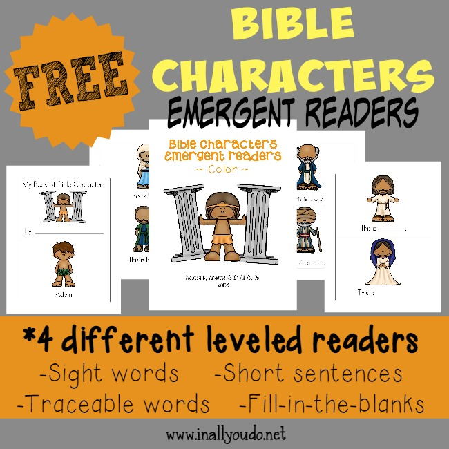 FREE Bible Character Readers