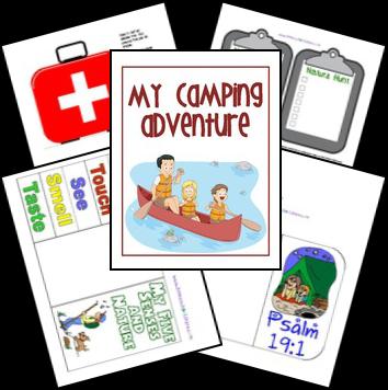 FREE Camping Lapbook