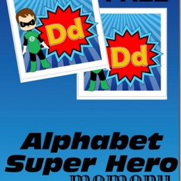 FREE ALPHABET SUPERHERO MEMORY GAME (Instant Download)