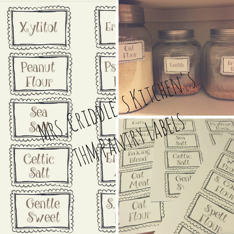 FREE THM Printable Labels