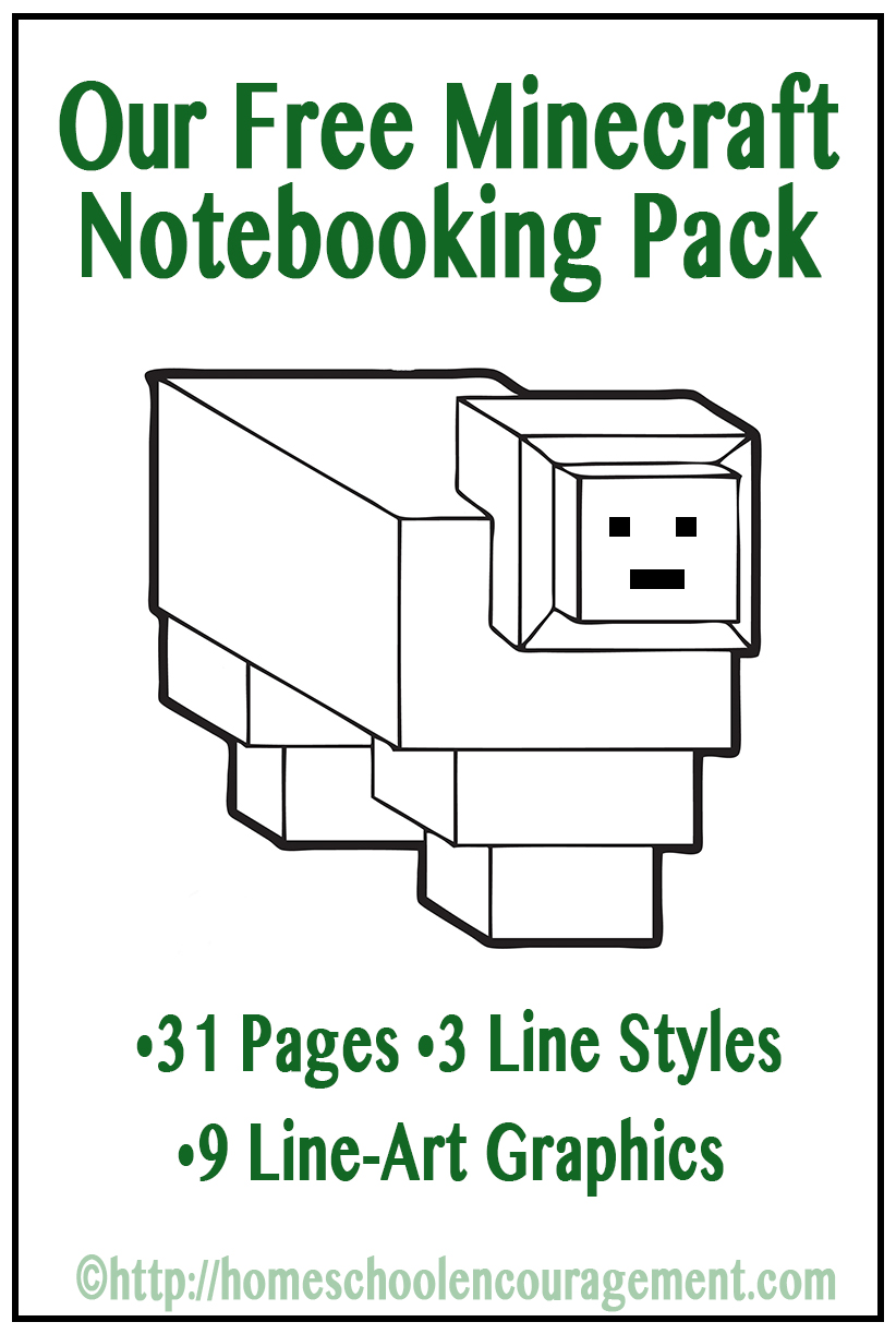 FREE Minecraft Notebooking Pages