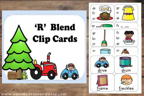 FREE  R Blends Clip Cards