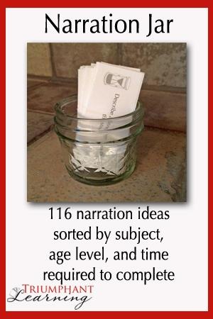 Free Narration Jar Printables (Reg. $4.95!)