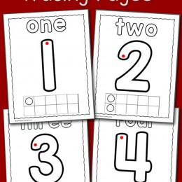 FREE NUMBER TRACING PAGES (Instant Download)