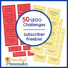 FREE Lego Challenges