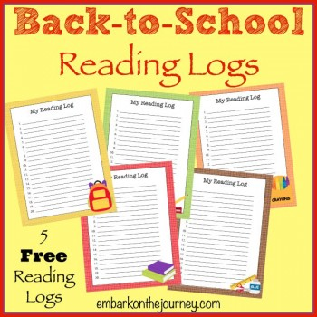 FREE Back to School Reading Logs