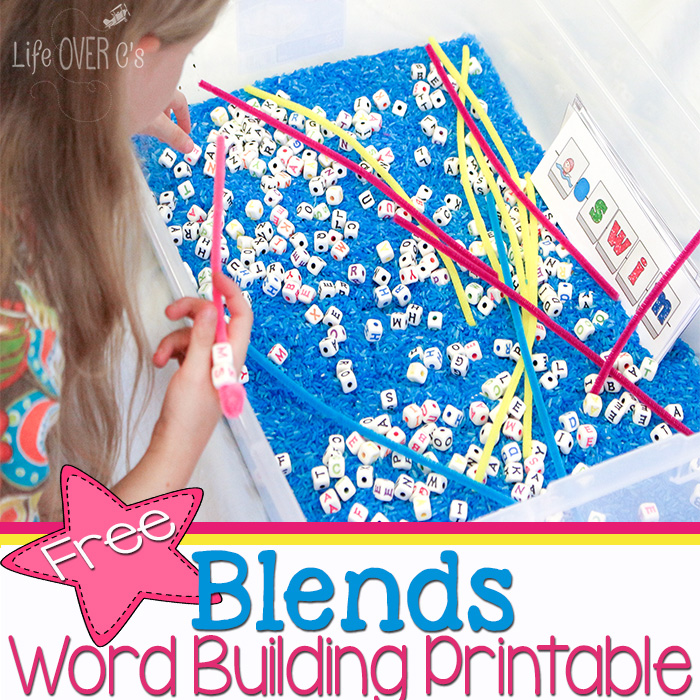 FREE Blends Word Building Printables