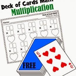 FREE Deck of Cards Math Worksheets: Multiplication