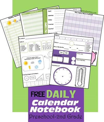 FREE Daily Calendar Notebook