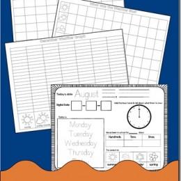 FREE Daily Kindergarten Calendar