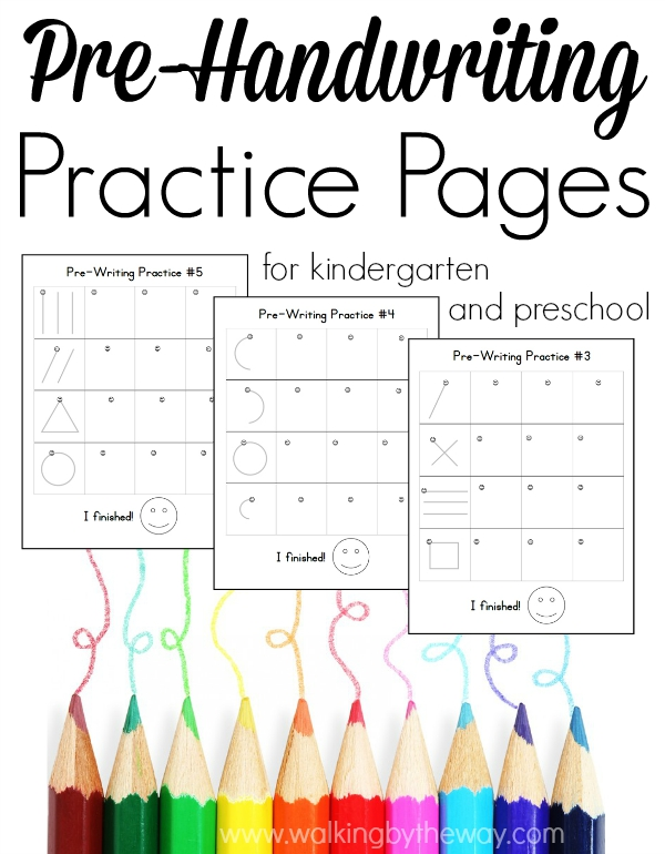 FREE Pre-Handwriting Practice Pages | Free Homeschool Deals