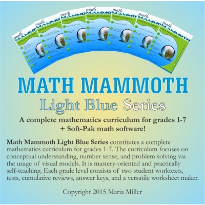 Math Mammoth Complete Grades 1-7 Math Curriculum Only $180!