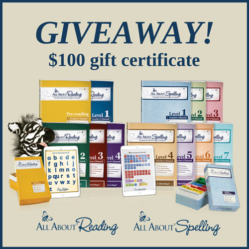 $100 Gift Certificate Giveaway to All About Learning!