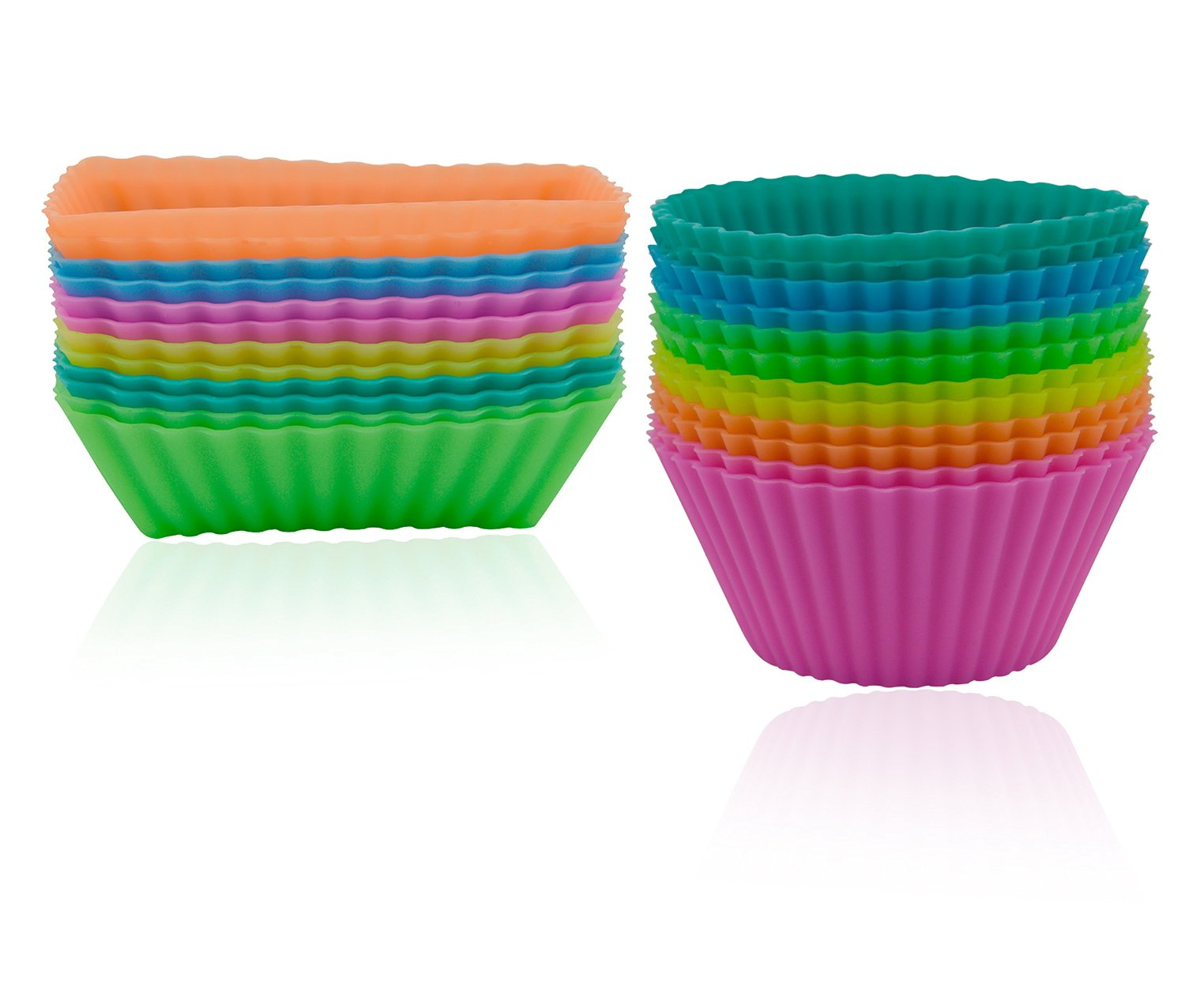 Freshware 24 Pack Silicone Baking Cups Only $9.99!
