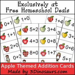 FREE APPLE THEMED ADDITION CARDS (Instant Download)