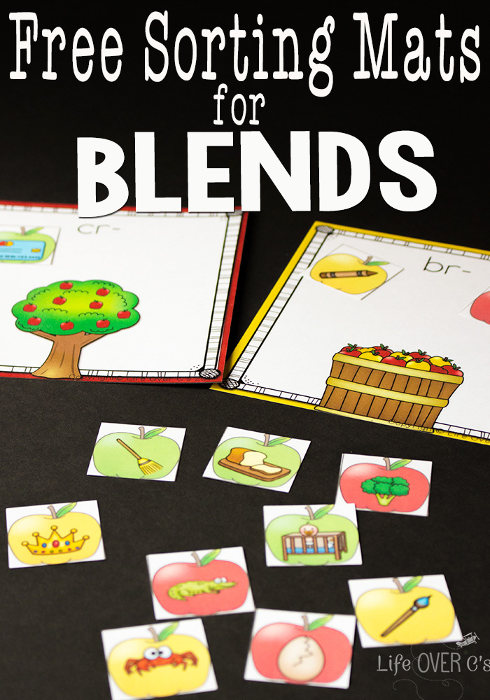 Make phonics seasonal with these FREE Apple Themed Sorting Blends Printables! #fhdhomeschoolers #freehomeschooldeals #fallresources #phonics #homeschoolers