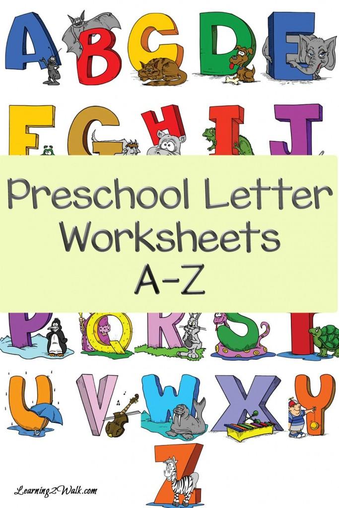 FREE Preschool A-Z Worksheets   Free Homeschool Deals