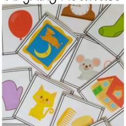 FREE Goodnight Moon Rhyming Activities