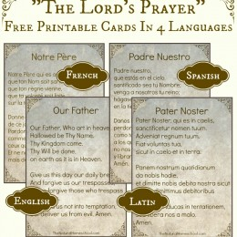 "FREE ""The Lord's Prayer"" in 4 Languages Printables"