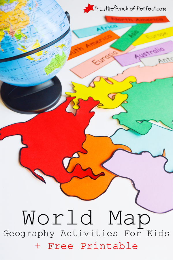 Printable Worksheets map worksheets for kids : FREE Interactive World Map With Activities | Free Homeschool Deals ©