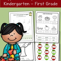 FREE Apple Themed Learning Printables