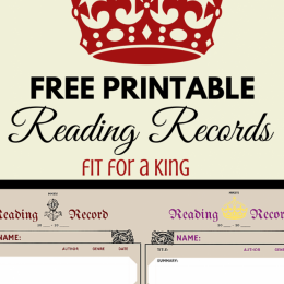 FREE Reading Record Keeping Printables