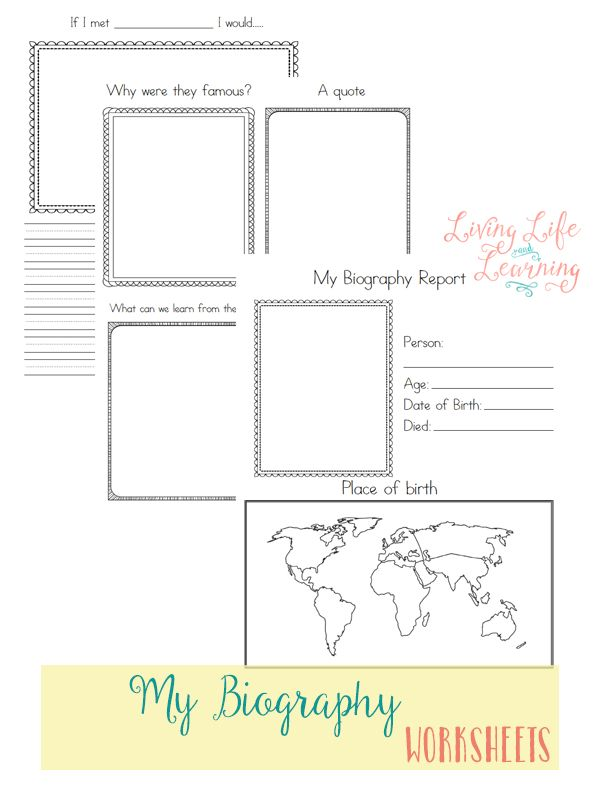 Free Biography Worksheets