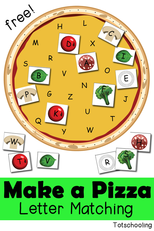 FREE Letter pizza