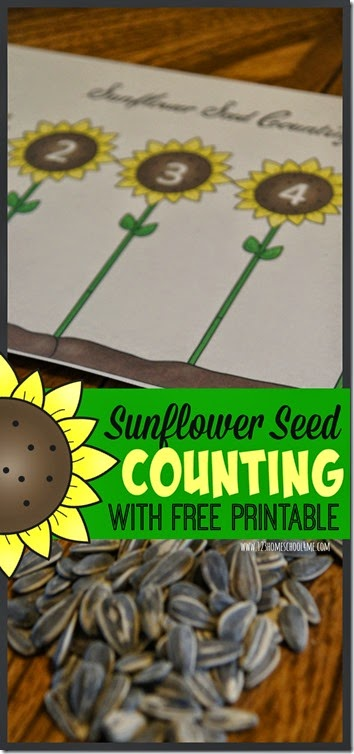 FREE Sunflower Counting Printables